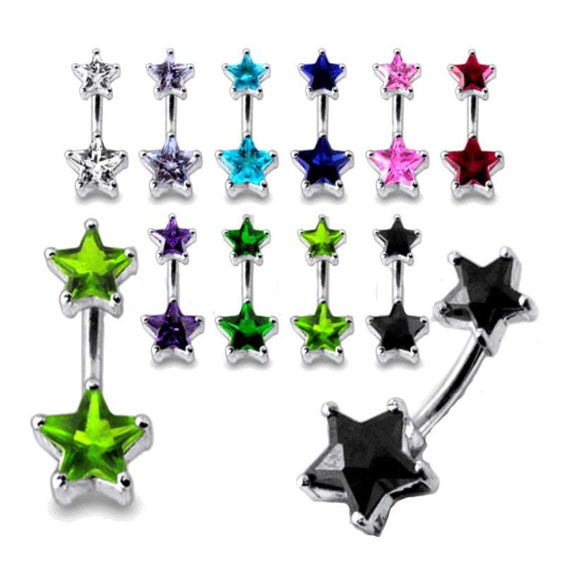 Piercing nombril étoile en argent