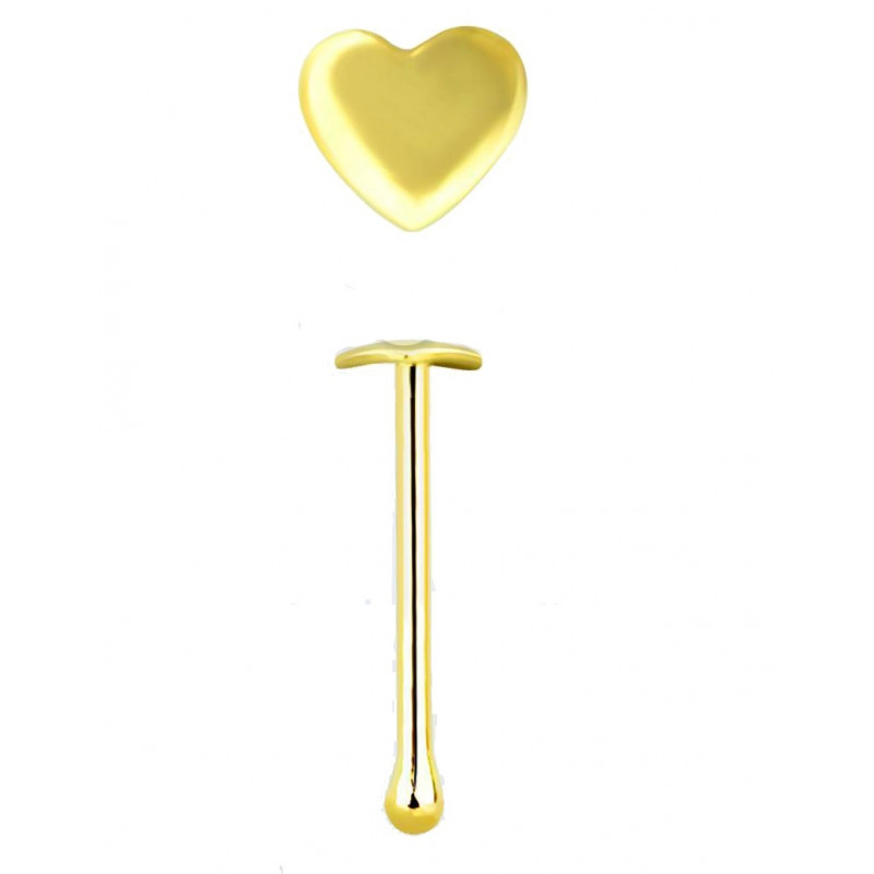 Piercing nez coeur en or