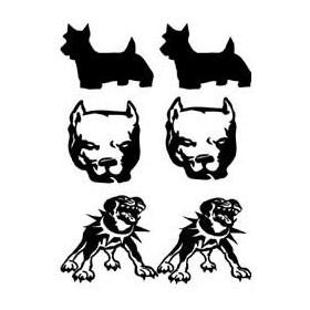 Tatouage autocollant Pit bull et rottweiler