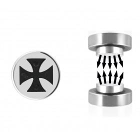 Faux plug croix magnétique acier