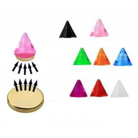 Faux piercing pointe fluo aimanté