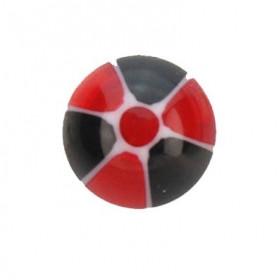 Faux piercing langue UV rouge et noir