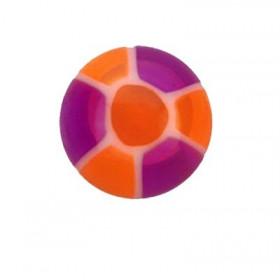 Faux piercing pour langue Violet et orange