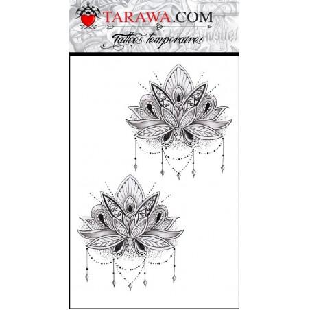 Tatouage mandalas fleur de lotus