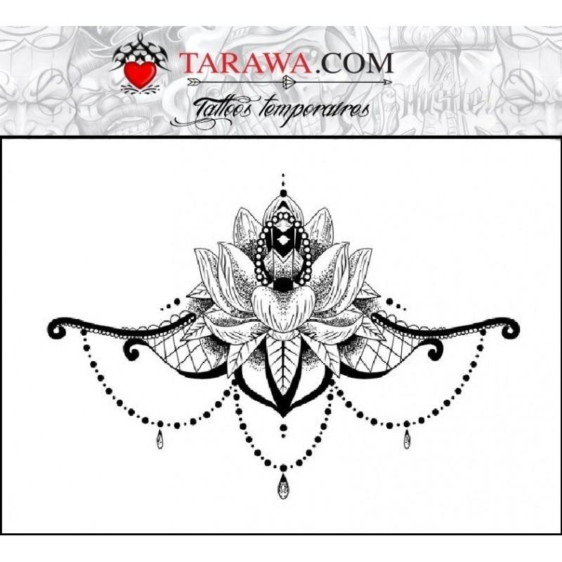Tatouage éphémère underboobs mandalas