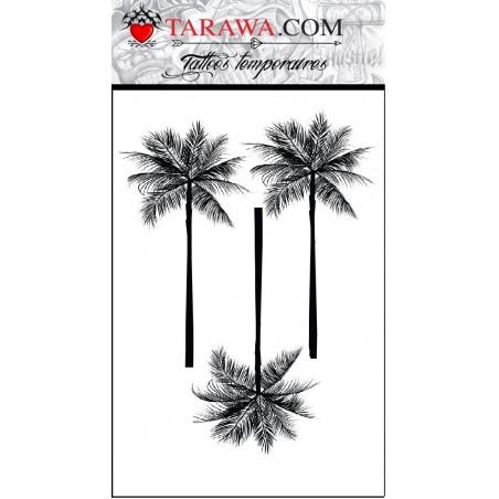 Tatouage éphémère dessin palmiers