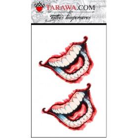 Tatouage temporaire sourire Le Joker