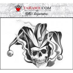 Tatouage Ephemere Biker Tete De Mort Achat Vente Faux Tattoo