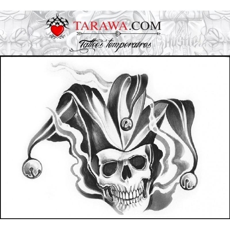 Tatouage Joker tête de mort