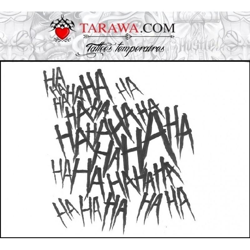 Tatouage éphémère Hahaha Le Joker