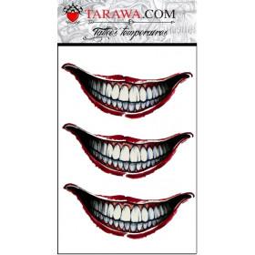 Tatouage éphémère bouche du Joker Suicide Squad