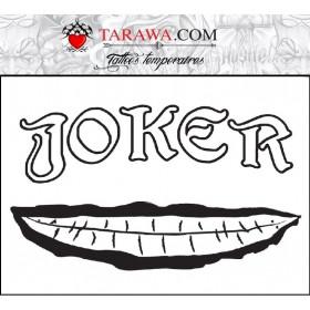 Tatouage temporaire écriture Joker Suicide Squad