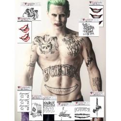 Tatouage Temporaire Joker Achat Vente De Faux Tattoo Motif Joker