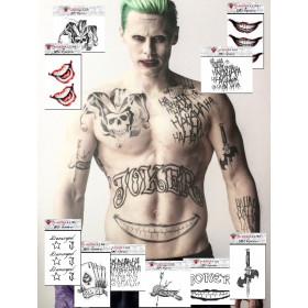Pack tatouage joker Suicide Squad