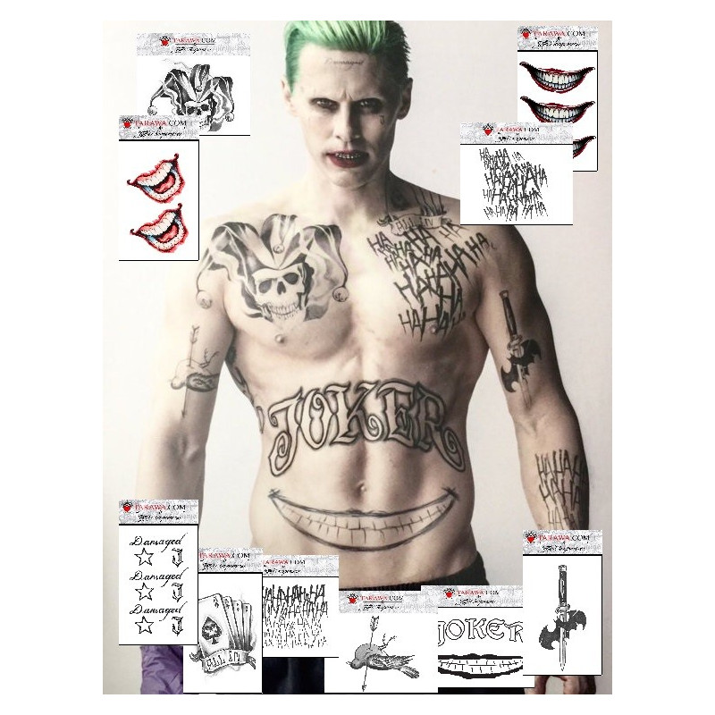 Pack tatouage joker Suicide Squad