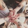faux tatouage mandalas poignet