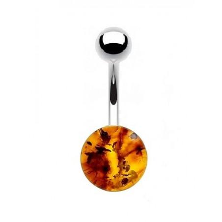 Piercing nombril ambre