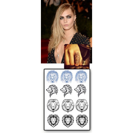 Cara Delevingne Tattoo Lion