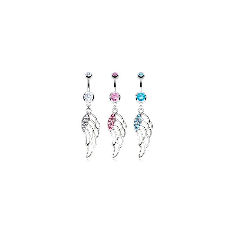 piercing nombril aile d'ange