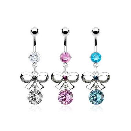 Piercing nombril noeud pendant