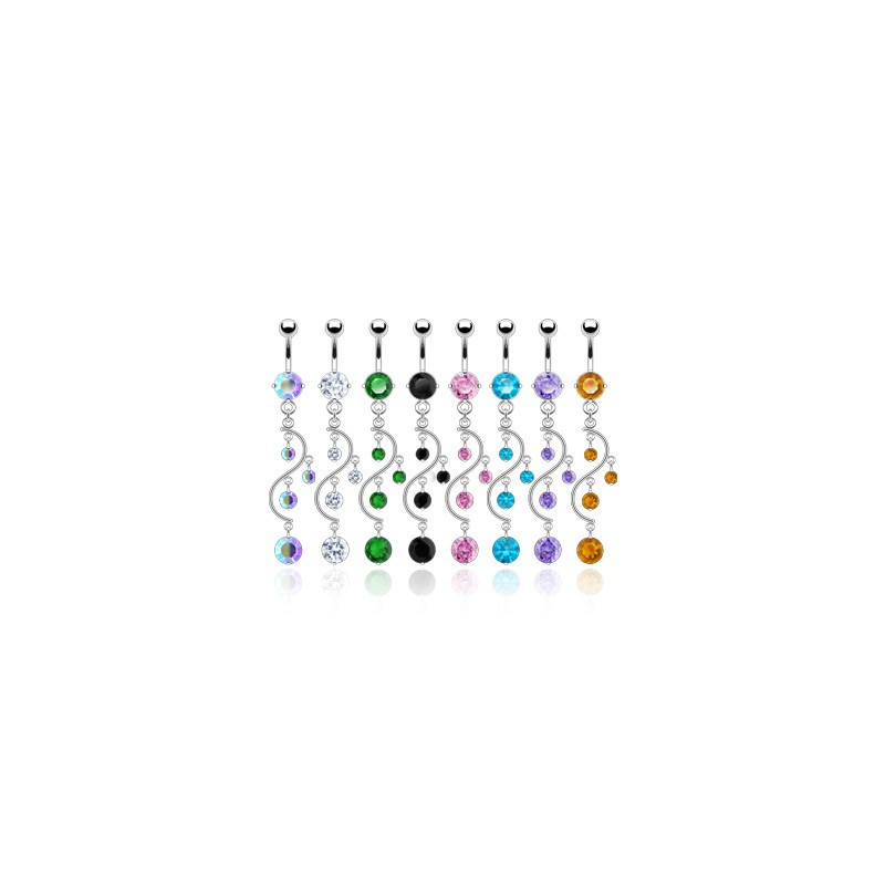 Piercing Nombril Pendentif Arabesque perle