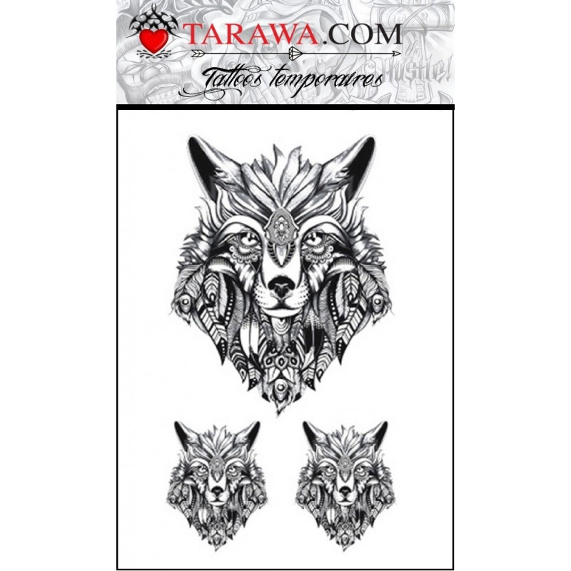tatouage loup indien tarawa piercing. Black Bedroom Furniture Sets. Home Design Ideas