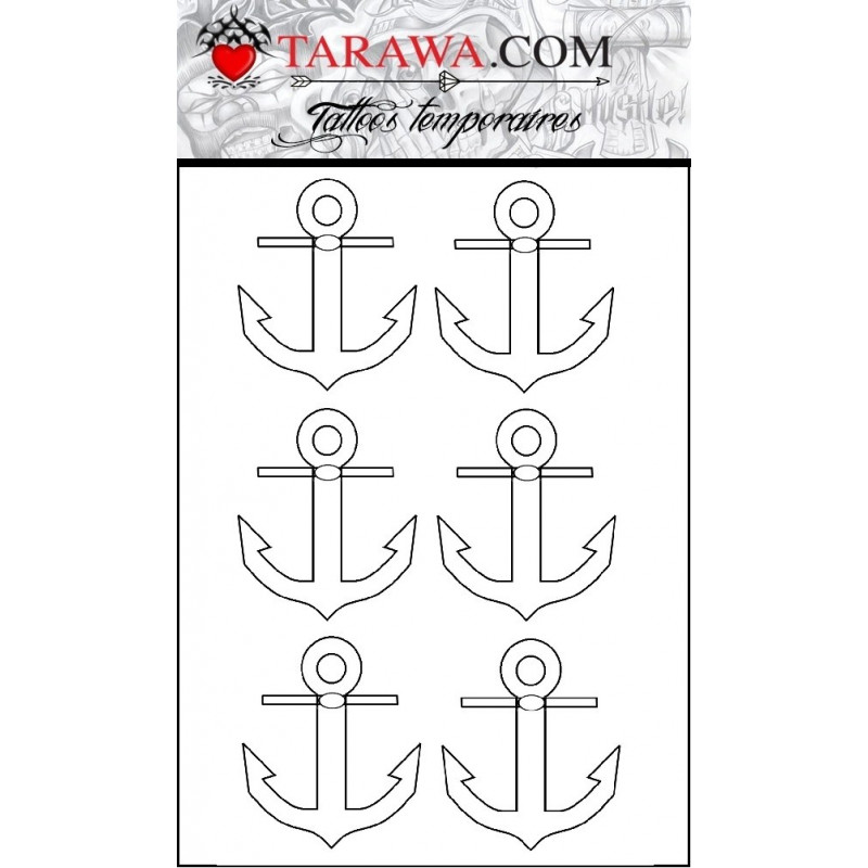 Tatouage Stickers ancre marine