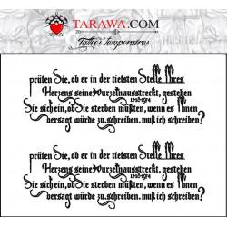 Faux Tatouage Phrase Et Lettre Vente Tattoo Temporaires Pas Chers