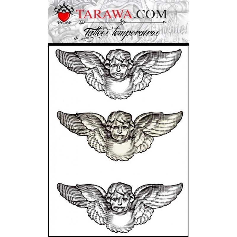 Tatouage éphémère ange