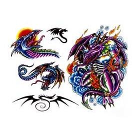 Tattoos temporaires Dragons