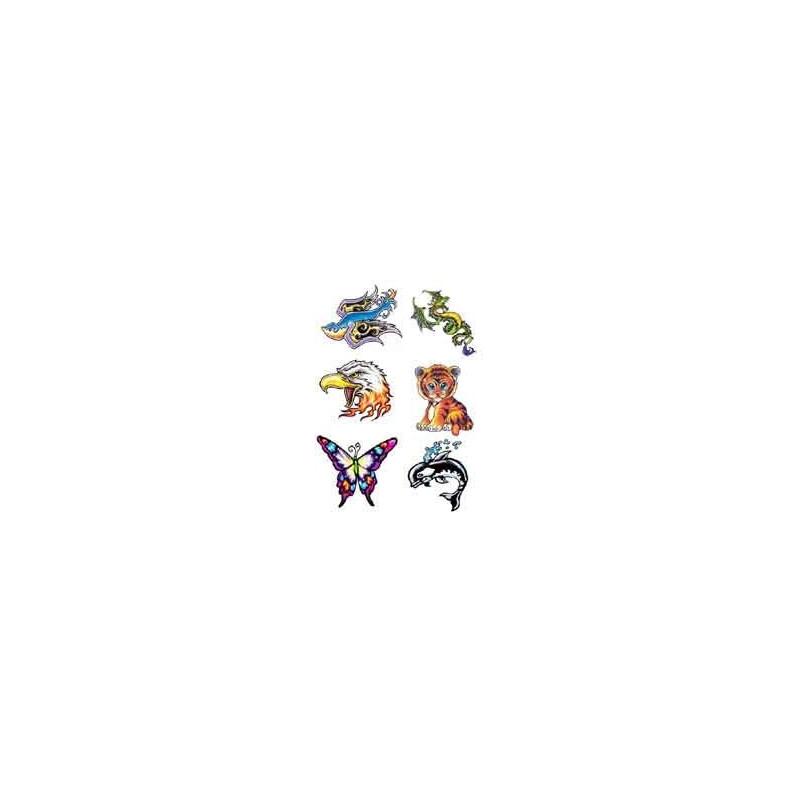 Tattoo autocollant oiseau dragon papillon dauphin aigle