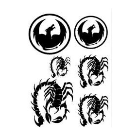 Tatouage autocollant Scorpion et dragon