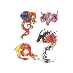 Tatouage Dragon Tribal autocollant