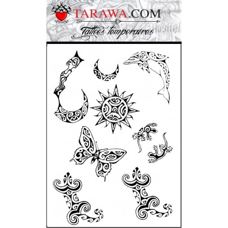 Tattoo Polynesien autocollant
