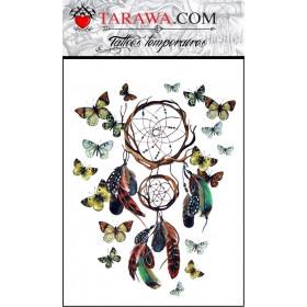 Tatouage attrape rêves papillons