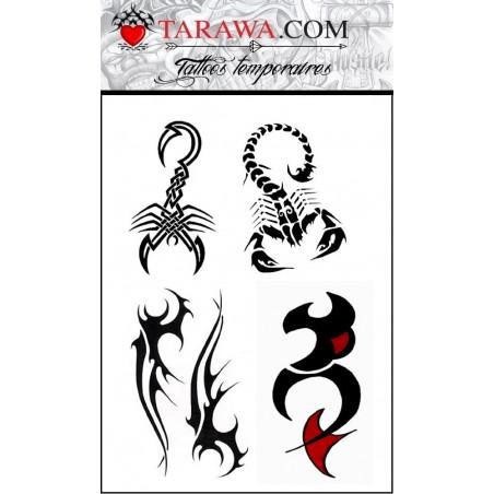 Tatouage Scorpion Tribal autocollant