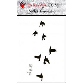 Tatouages oiseau pour femme