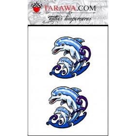 faux tatouage dauphin pour enfant