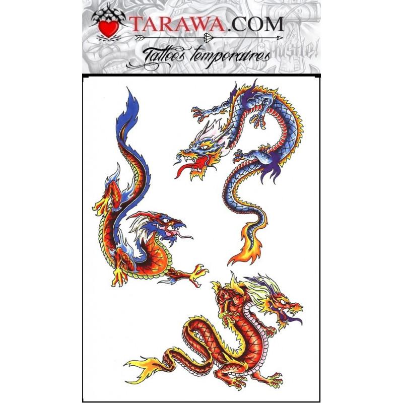 Tatouage Temporaire Dragons pour enfant