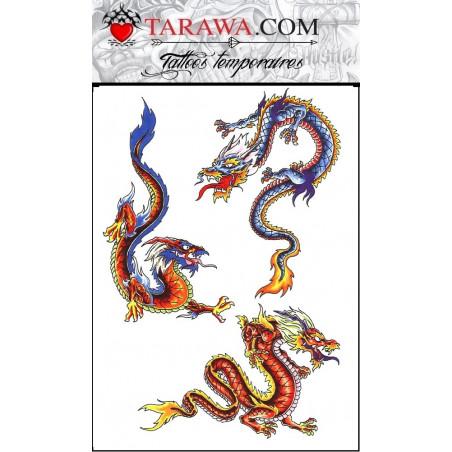 Tatouage Temporaire Dragons