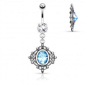 piercing nombril princesse bleu turquoise