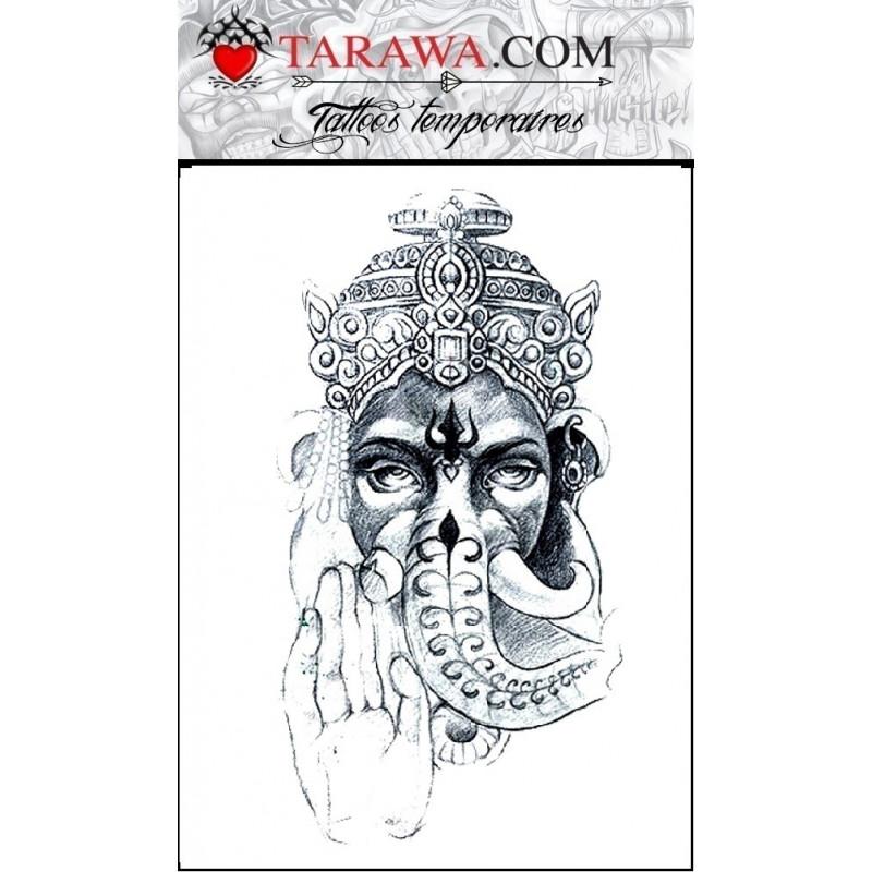 Tatouage éphémère déesse Shiva