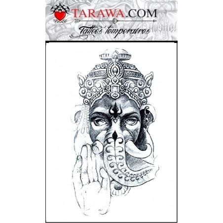 Tatouage éphémère Shiva