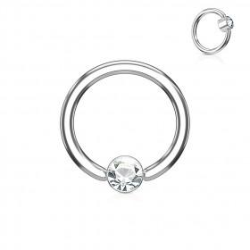 piercing anneau bille brillante