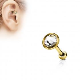 Piercing oreille brillant blanc