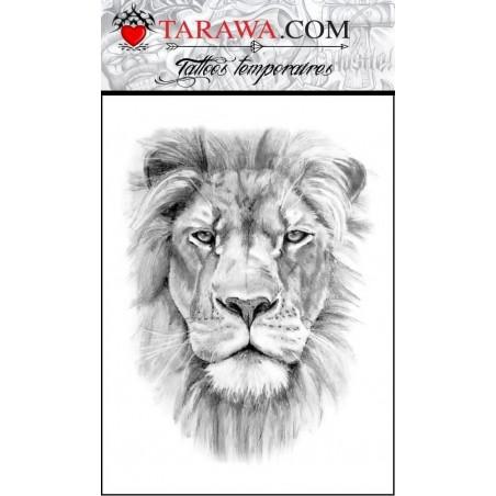 Tatouage lion réaliste