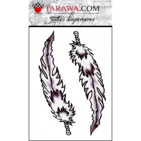 tatouage temporaire plume Amywhinehouse