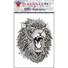 Tatouage lion mandala