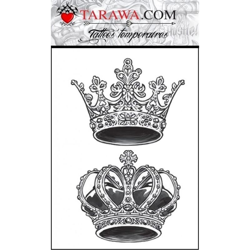 Tatouage éphémère couronne
