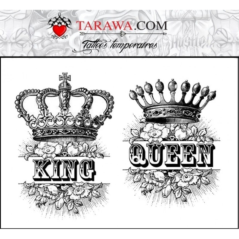 tatouage ph m re king and queen tarawa piercing. Black Bedroom Furniture Sets. Home Design Ideas